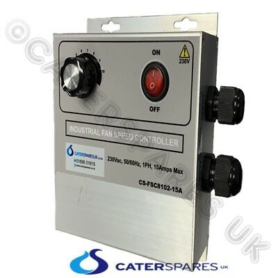 Heavy Duty Fan Speed Controller For Commercial Gas Interlock Systems 15A 230V