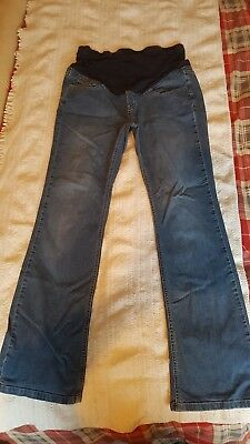 Maternity jeans size 14 over bump