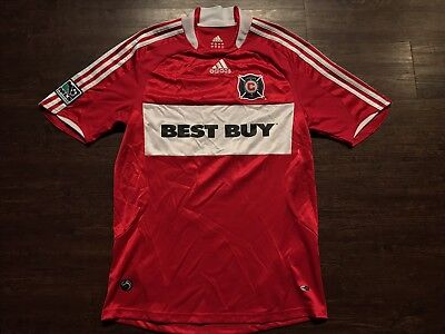 85f5fdd73 Authentic Adidas 2008-2009 Chicago Fire Red White Home MLS Soccer Jersey  Small