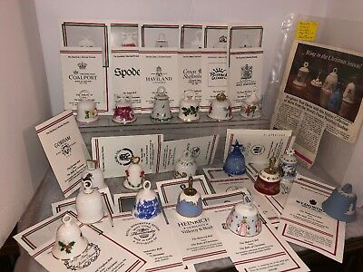 Bells Of Christmas 18 Collection Spode Wedgwood Bing Grondahl Gorham Bone China