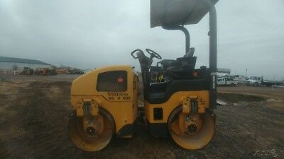 2008 Volvo 0038HF Roller Packer Double Smooth Drum Water Sprayer 2359hrs