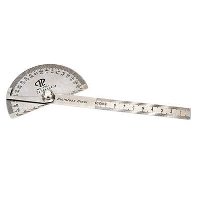 Stainless Steel Protractor Head Rotary Goniometer Angle Ruler Tool Durable T8Z5
