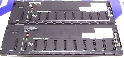 *LOT OF 2* GE FANUC 10 SLOT EXPANSION IC693CHS392J IC693CHS392K 60 Day Warranty!