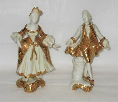 Antique Pair of French Court Couple Figurines - Ginori - Late 19th Century RARE