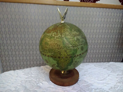 Vintage World Globe Mysterious Old Map With Hidden Compartment