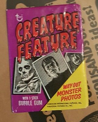 Topps Creature Feature wax pack vintage unopened