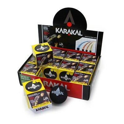 Karakal Squash Balls - Double Yellow Dot  1 Ball, 2 Balls, 3 Balls