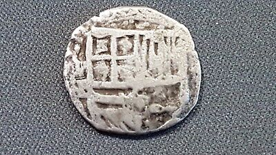Potosi - Silver Cob - 1 Real - King Philippus Iii - Pirate And Colonial Coin -