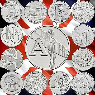 CHEAP 2018 & 2019 10p TEN PENCE A-Z ALPHABET COINS ROBIN LOCHNESS ANGEL BOND