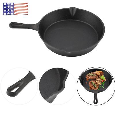 Cast Iron Skillet Oven Fry Pan Pot Cookware Pre-seasoned Cast Iron Skillet