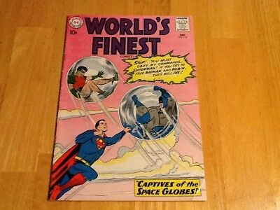 World's Finest  #114 DC Comic Book Captives Of The Space Globes