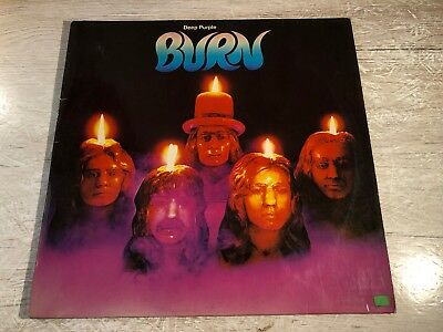 Deep Purple ‎Burn Vinyl LP 1974 German Purple Records ‎1C 062-94 837 D