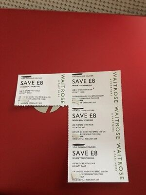 Waitrose Money Off Vouchers Coupons £8 x 2 valid till 3rd Feb 2019