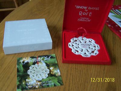 Longaberger Collector Club Snowflake Ornament by Rose, new