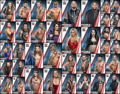 Topps SLAM WWE JANUARY 2019 EDITORS CHOICE [38 CARD BLUE SET] Charlotte/Paige+++