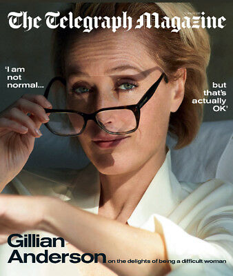 UK Telegraph Magazine January 2019: GILLIAN ANDERSON COVER & FEATURE The X-Files