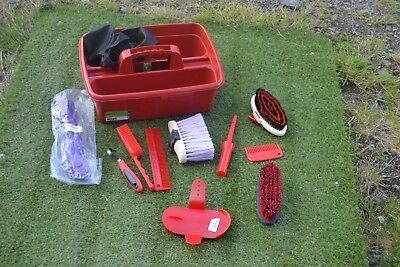 Reds  Grooming Kit Tray And Kit-Haynet-Grooming Items - Tray Cover  New