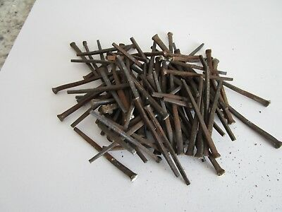 """Salvaged Hand Cut Forged Antique Nails from 1900's - Lot of 100 - Each 2.25"""""""
