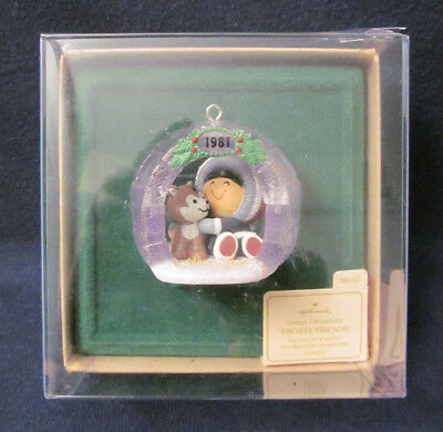 Mint Hallmark Ornament 1981 FROSTY FRIENDS 2nd in Series w/Box - Keepsake QX4523