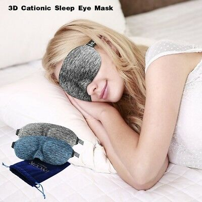 3D Soft Padded Shade Eye Blindfold Sleep Mask Travel Aid Cover Rest Relax