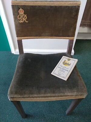 Antique George VI 1937 Coronation Chair from Westminster Abbey