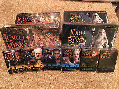 LOTR TCG DECIPHER Booster Box and Starter Deck Lot - Fellowship and Towers Block