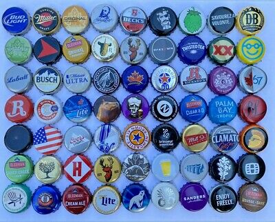25 ((DIFFERENT ASSORTED) *NO DENTS* Beer Bottle Caps Free Fast Shipping