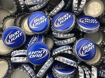 100 ((Bud Light- Old Style)) NO DENTS Beer Bottle Caps Free Shipping