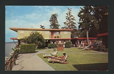 Old Vintage Siskan Resort Motel Belfair Washington WA Postcard