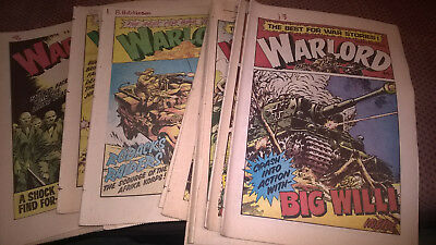 Warlord COMICS from Early 1980s - FOUR for £1.50! *GREAT RETRO GIFT IDEA*