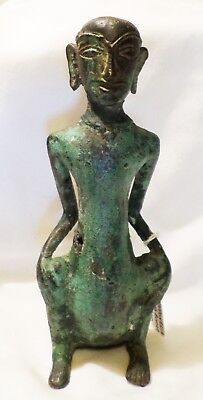Southeast Asia Indonesian Trade Bronze Shaman Male Figure Statue 13-16Th C