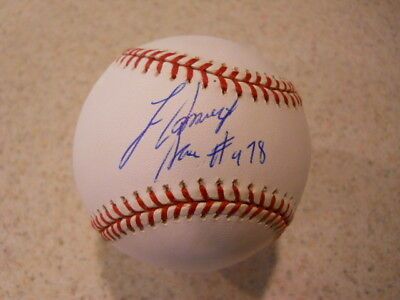 Lee Smith HOF '19 Cubs, Cardinals, Reds signed Saves #478 NATIONAL LEAGUE BB/COA
