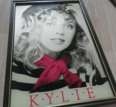 Rare 80s Vintage Printed Picture Mirror Kylie Minogue I Should Be So Lucky No CD