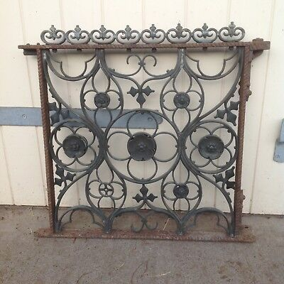 wrought iron and brass decorative gate