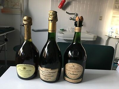 3 Bottiglie Vin Nature de la Champagne Taittinger  Laurent Perrier  Ruinart