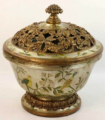 Very large vintage or antique Chinese covered bowl