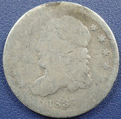 1837 Capped Bust Half Dime - AG Condition