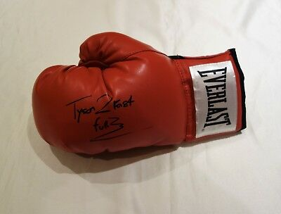 Tyson Fury Signed Everlast Boxing Glove with Certificate of Athenticity