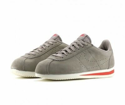 Men's Nike Classic Cortez Suede Casual Trainers Size 9 UK AA3108-200 Sepia Stone