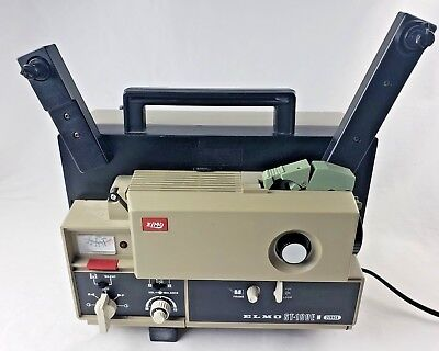 ELMO ST-180E 2-Track 8mm Sound Film Projector Untested