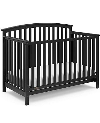 Graco Freeport 4-in-1 Convertible Fixed-Side Crib, Black
