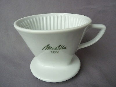 Melitta 102 vintage 4 Loch Filter Cone Porzellan Coffee dripper hand drip brewer