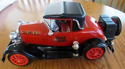 Jim Beam Fire Chief CFD 1928 Model A Ford Decanter Clermont Beam Kentucky Empty