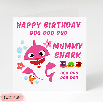 Baby Shark Doo Doo Mummy Birthday Card