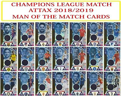 Topps Champions League Match Attax 2018 2019 18 19 Man of the Match cards