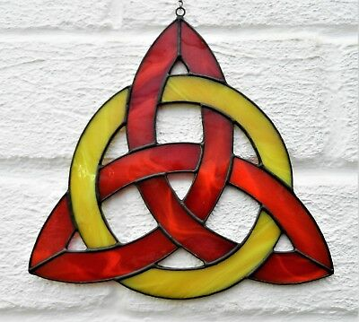 Hand crafted stained glass sun catcher Celtic Knot