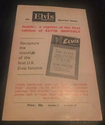 Elvis Monthly No1 Copy Reprint Of Original 1st Edition Issue 1960