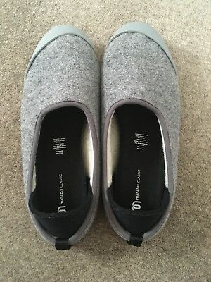 Mens MAHABIS Classic Grey Slipper Shoe Larvik Soles Size EU 44 UK 10 Felt Modern