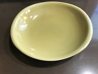 Russel Wright Gumbo Bowl avocado green yellow Iroquois casual China mcm