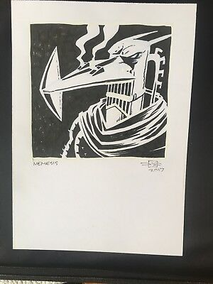 Original Comic Art  Disraeli Matt Brooker Inktober Sketch 2017 Signed